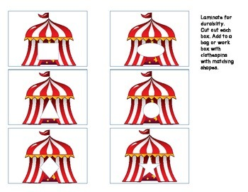Circus Themed Tasks for Special Education or Early Learners