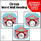 Circus Themed Word Wall Headings