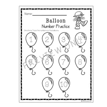 Circus Themed Worksheets and Printables