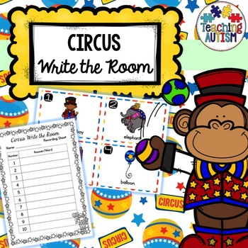Circus Themed Write the Room