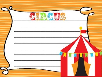 Circus Themed Writing Paper - Literacy - Writing Centers