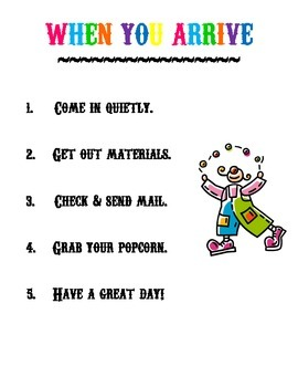 Circus Themes Instructions