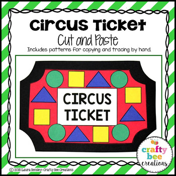 Circus Ticket Cut and Paste