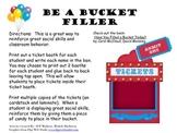 Circus Tickets - Fill a Bucket - Social Skills Behavior Classroom Management