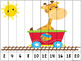 Circus Train Counting Puzzles -FREEBIE