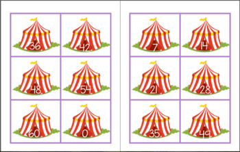 Circus Train Multiplication Little Math Pack (Math Facts 6-10)