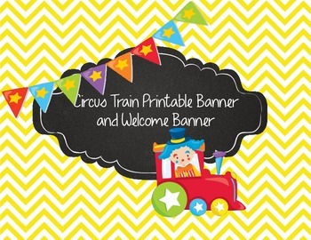 Circus Train Printable Banner Polka Dots, Stripes, Patterns & Animals Big Top