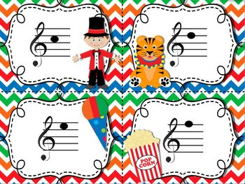 Circus Treble Clef Matching Game