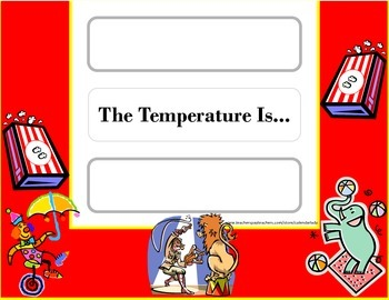 Circus Weather Chart! Circus Bulletin Board! Circus Theme Classroom!