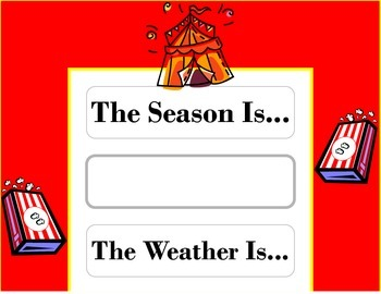 Circus Weather Chart! Circus Bulletin Board! Circus Theme