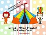 Circus Word Families