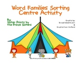 Circus Word Family Sorting Centre Activity