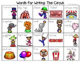 Circus Word List - Writing Center