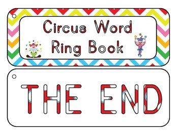 Circus Word Ring Book