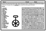 Circus, Word Search Worksheet, Summer Activity Distance Learning