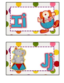 Circus Word Wall Cards