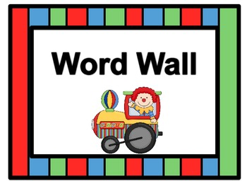Circus Word Wall Headers