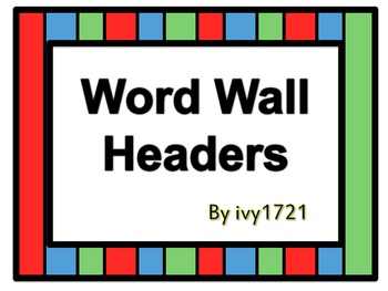 Circus Word Wall Headers