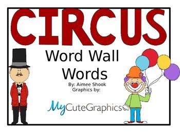Circus Word Wall Words
