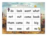 Circus Words Bingo Kindergarten Sight Words Set K3