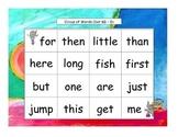 Circus Words Bingo Kindergarten Sight Words Set K4