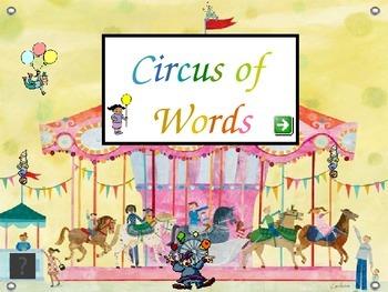 Circus Words - Kindergarten Sight Words - Set K.2