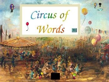 Circus Words - Kindergarten Sight Words - Set K.3