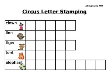 Circus Words Letter Stamping