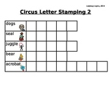 Circus Words Letter Stamping 2