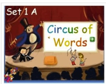 Circus Words Set A - gr 1 sight words