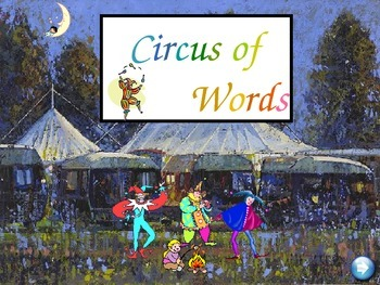 Circus Words Set B - gr 1 sight words