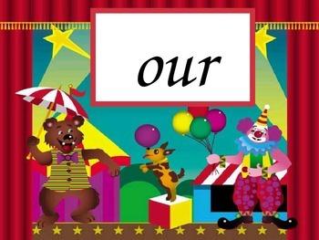 Circus Words Set C - gr 1 sight words