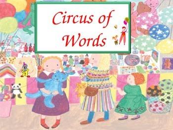 Circus Words Set D - gr 1 sight words