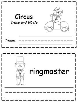 Circus Words Trace & Write Book