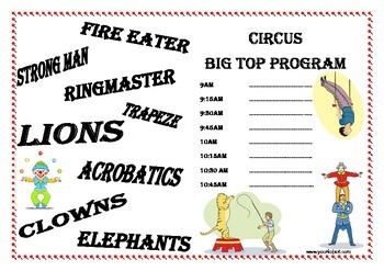 Circus Write and Play Package
