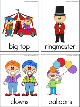 Circus Writing Center Tools: Theme Words