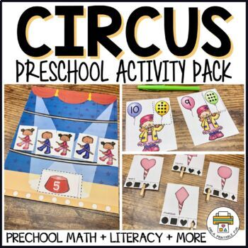 Circus I Cotton Candy I Juggling Activities for Pre-K, Preschool and Tots