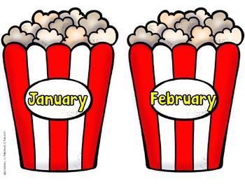 Circus and Carnival Birthday Chart EDITABLE