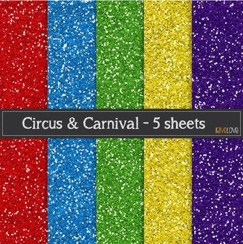 Circus and Carnival Glitter Paperr