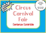Circus and Carnival Sentence Scramble Grammar Syntax (22 Sentences, Worksheet)