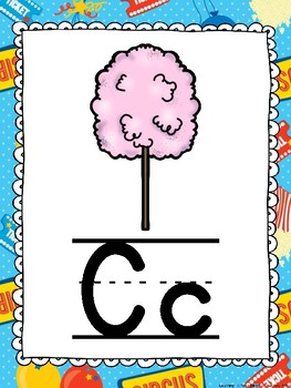 Circus and Carnival Theme Alphabet Posters