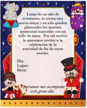Circus blue Invitation Editable!!!