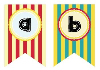 Circus bunting abc _lowercase