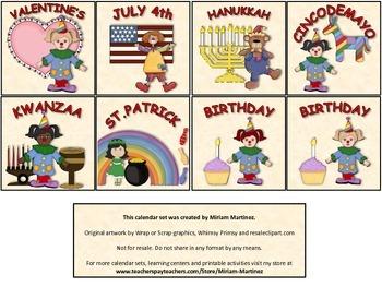 Circus calendar set