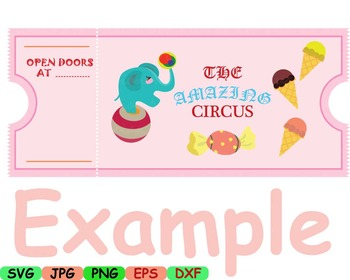 Circus carnival Clown candy Clip art svg food candy animals woodland party -6sv