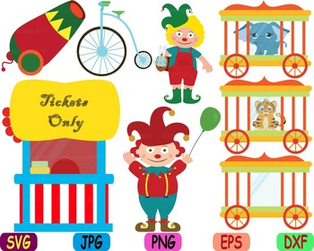 Circus carnival Clown candy Clip art svg food candy animals woodland party -83s
