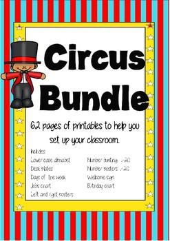 Circus classroom setup bundle
