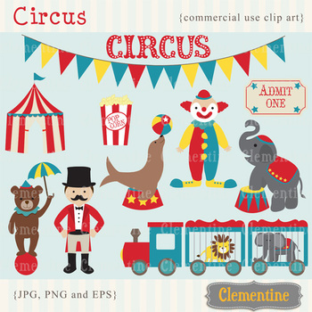 Circus clip art  - Lovely Clementine