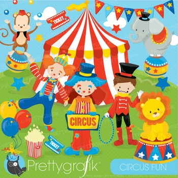 Circus clipart commercial use, vector graphics, digital - CL683