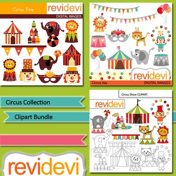 Circus collection clip art bundle (3 packs)